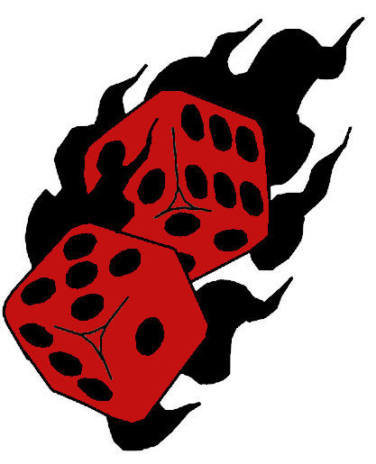 Dice clipart funny Dice Dice cliparts Clipart Flaming