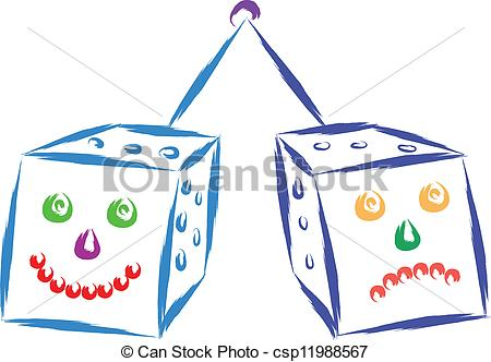 Dice clipart funny  funny Vector vector with