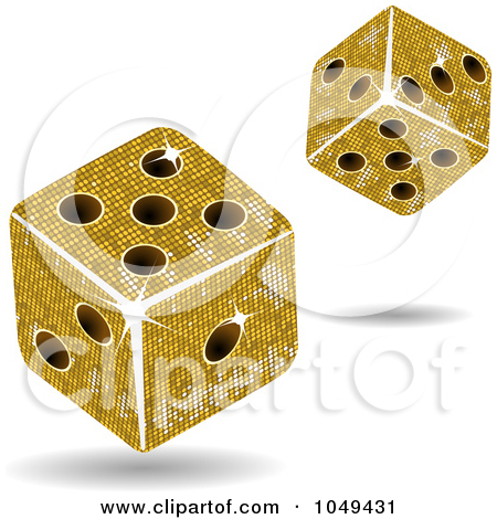 Dice clipart gold 3d 1049431 Free Dice Art