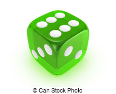 Dice clipart green Green green  background translucent