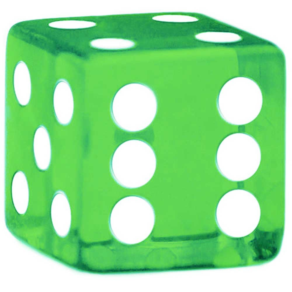 Dice clipart green Rounded 16mm Rounded Corner Green