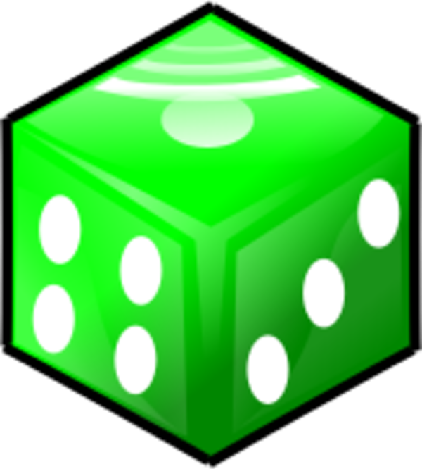 Dice clipart green Dice Die Art Large Thumb