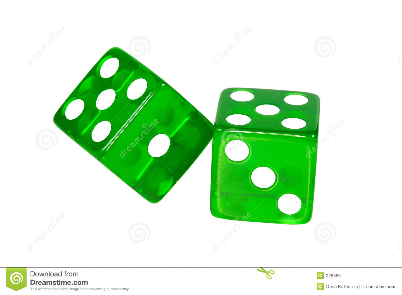Dice clipart green Dice Bunco Panda Green clipart