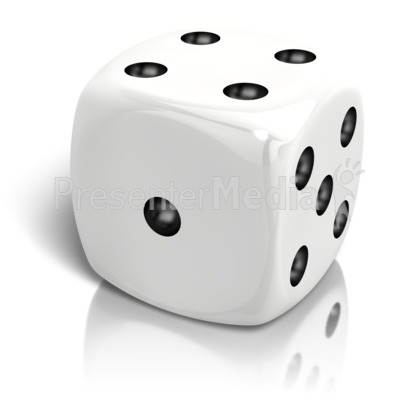 Dice clipart number four Dice Sports A Clipart Rolled