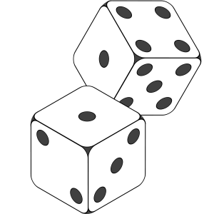 Dice clipart rolled Free clipart 1 vector image