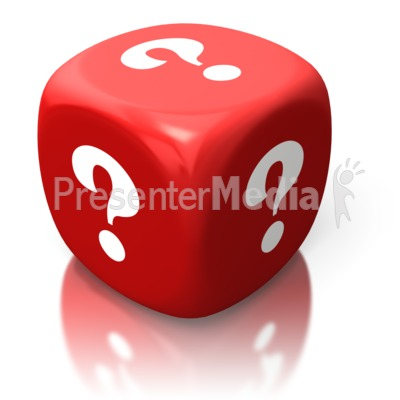 Dice clipart question mark On Clipart Red Die On