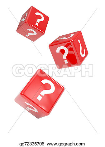 Dice clipart question mark Question 3d render of 3d
