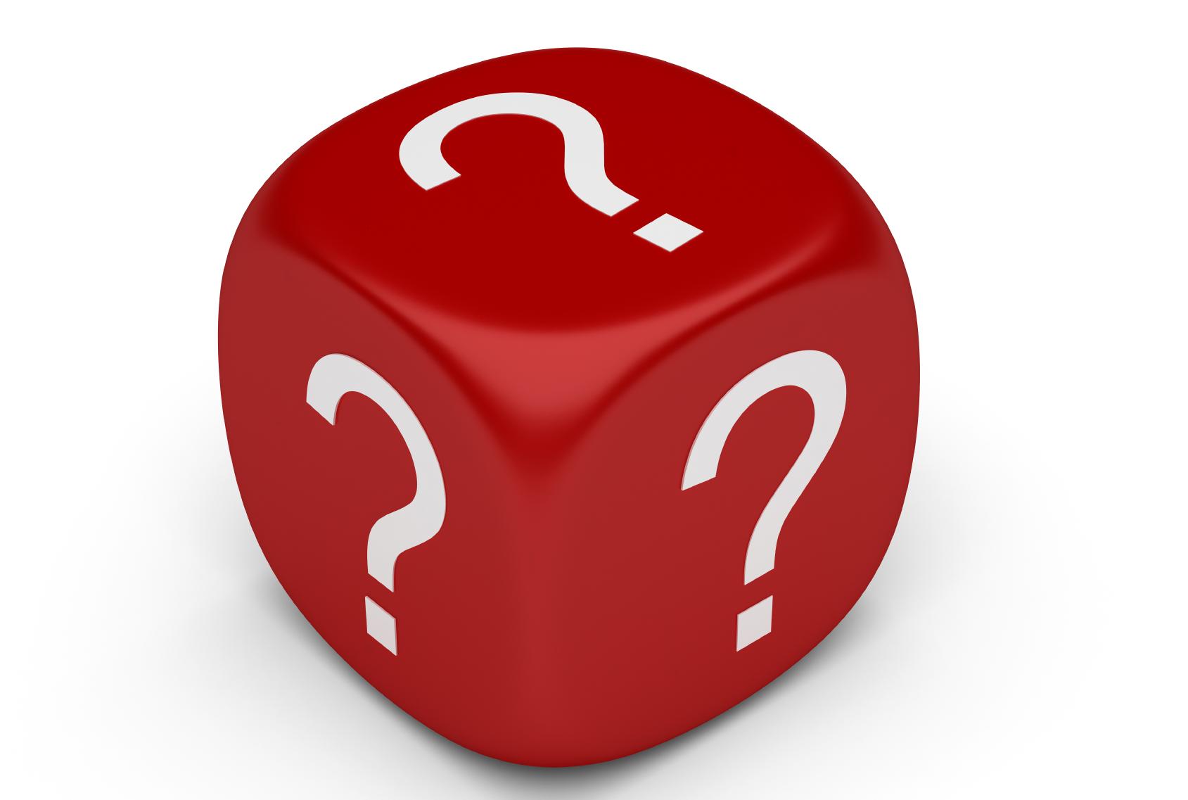 Dice clipart question mark Question Of Question  Art
