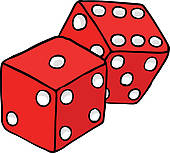 Dice clipart rolled Dice Clip clipart rolling dice