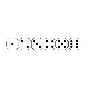 Dice clipart six sided Faces Six Cliparts Sided Of