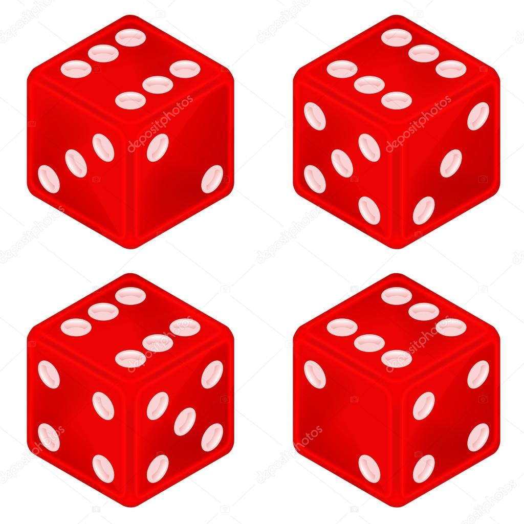 Dice clipart square object Object #53425603 Stock set red