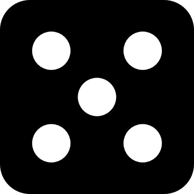 Dots clipart dice Five dots Icons dice Dice