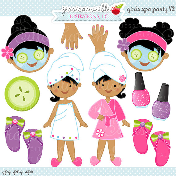 Nails clipart pamper party Use Digital Use Spa Spa
