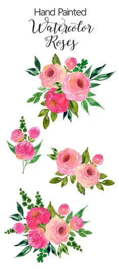 Wildflower clipart flowering plant Art Hand Pinterest Clip Roses