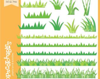 Ocean clipart grass Download Grass Etsy Digital Clipart