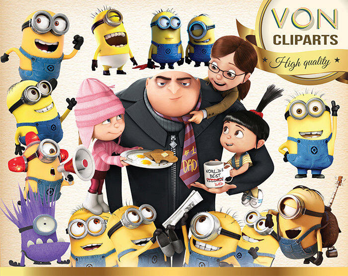 Despicable Me clipart printable Art Minion 32 Image Digital