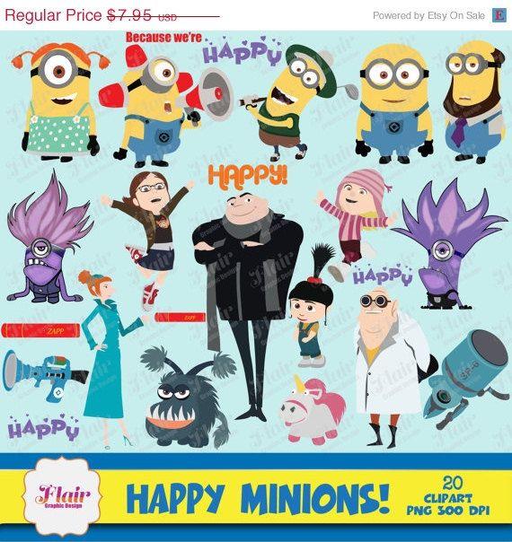 Despicable Me clipart birthday minion 50% 7 MINIONS Despicable Clipart