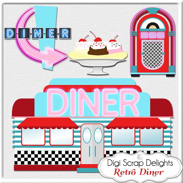 Diner clipart Retro  Clipart Diner
