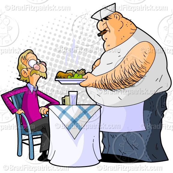 Diner clipart cartoon A Dirty Diner  Fat