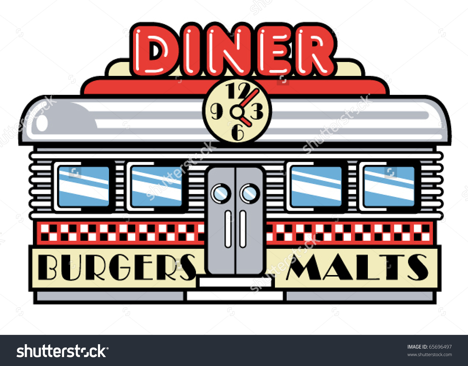 Diner clipart cartoon Clipart Sign Diner Sign Clipart