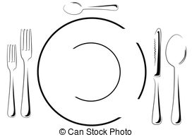 Setting clipart black and white And setting Table fancy 62