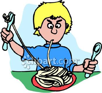 Pasta clipart dinner time Eating Free Clipart Panda Dinner