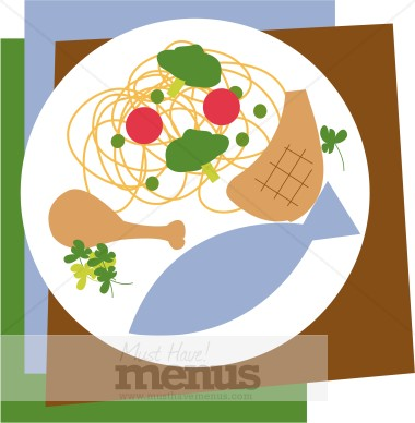 Steak clipart entree Entrees Clipart Clipart Menu Graphics