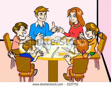 Larger clipart dinner table 05 Family Family – Dinner