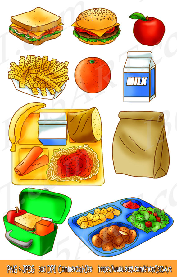 Drawn meal School clipart Clipart Set collection
