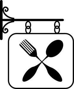 Restaurant clipart black and white Clipart Logo Cliparts Restaurant Sign