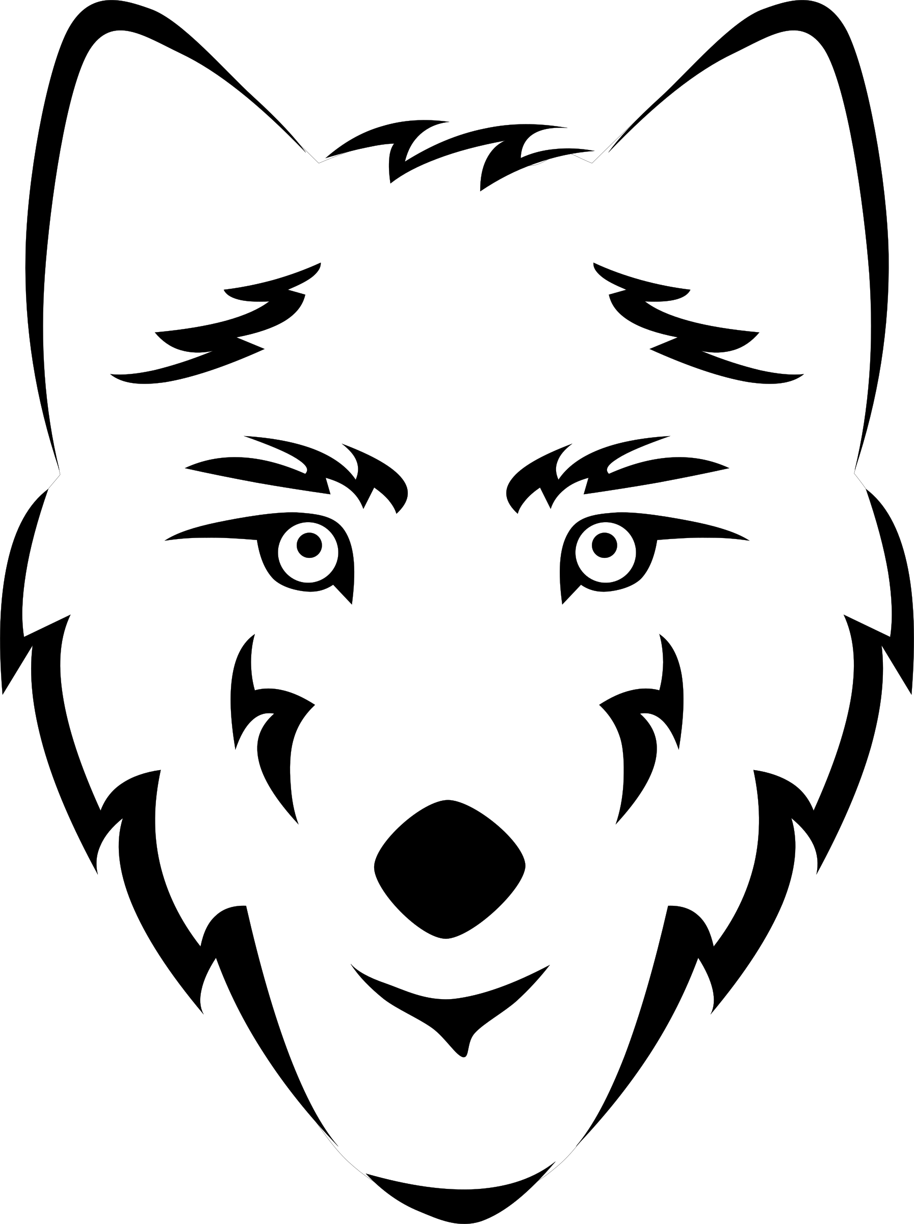Wolf clipart nose Free Coloring Images coloring pages