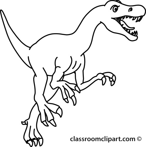 Velociraptor clipart Clipart Classroom allosaurus_clipart_01B_outline : allosaurus_clipart_01B_outline