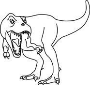 Black clipart dinosaur And Size: tyrannosaurus Outline White