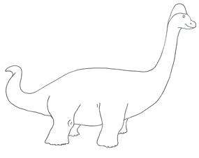 Brachiosaurus clipart dinosaur footprint Brachiosaurus Sketch Dinosaur Clipart brachiosaurus