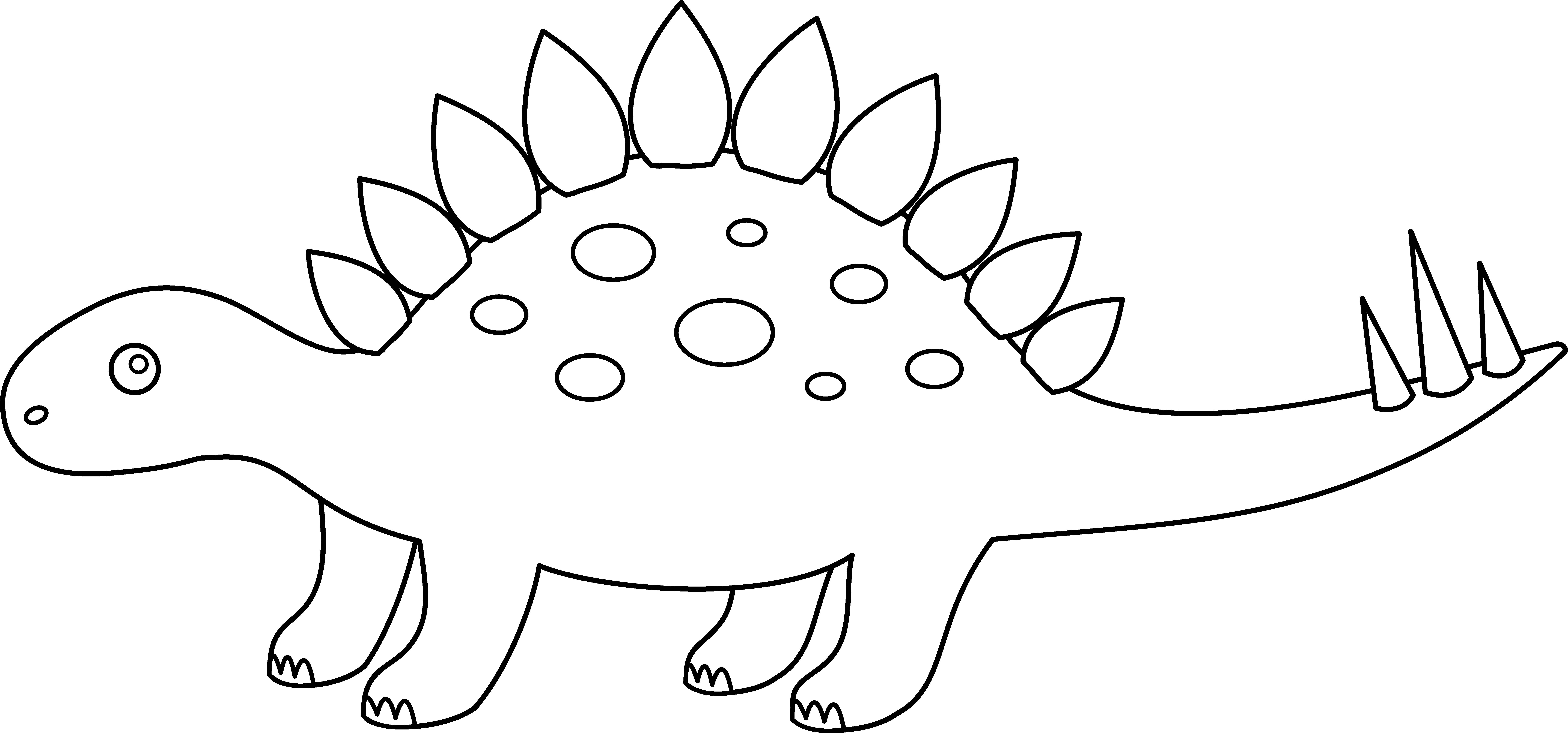 Stegosaurus clipart black and white Felt printable stegosaurus art craft