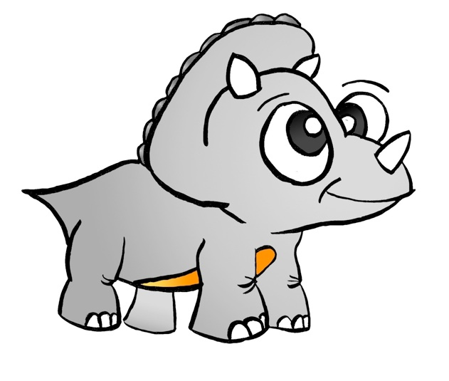 Triceratops clipart cartoon #13