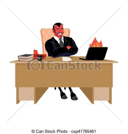 Dioblo clipart cute demon Table demon leader sitting job