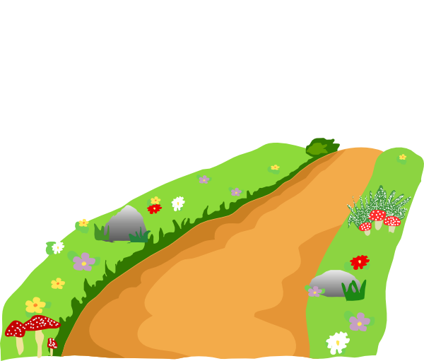 Walkway clipart curved path – Road Art Art Clip
