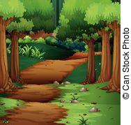 Dirt Road clipart 247 2 Forest Dirt Art