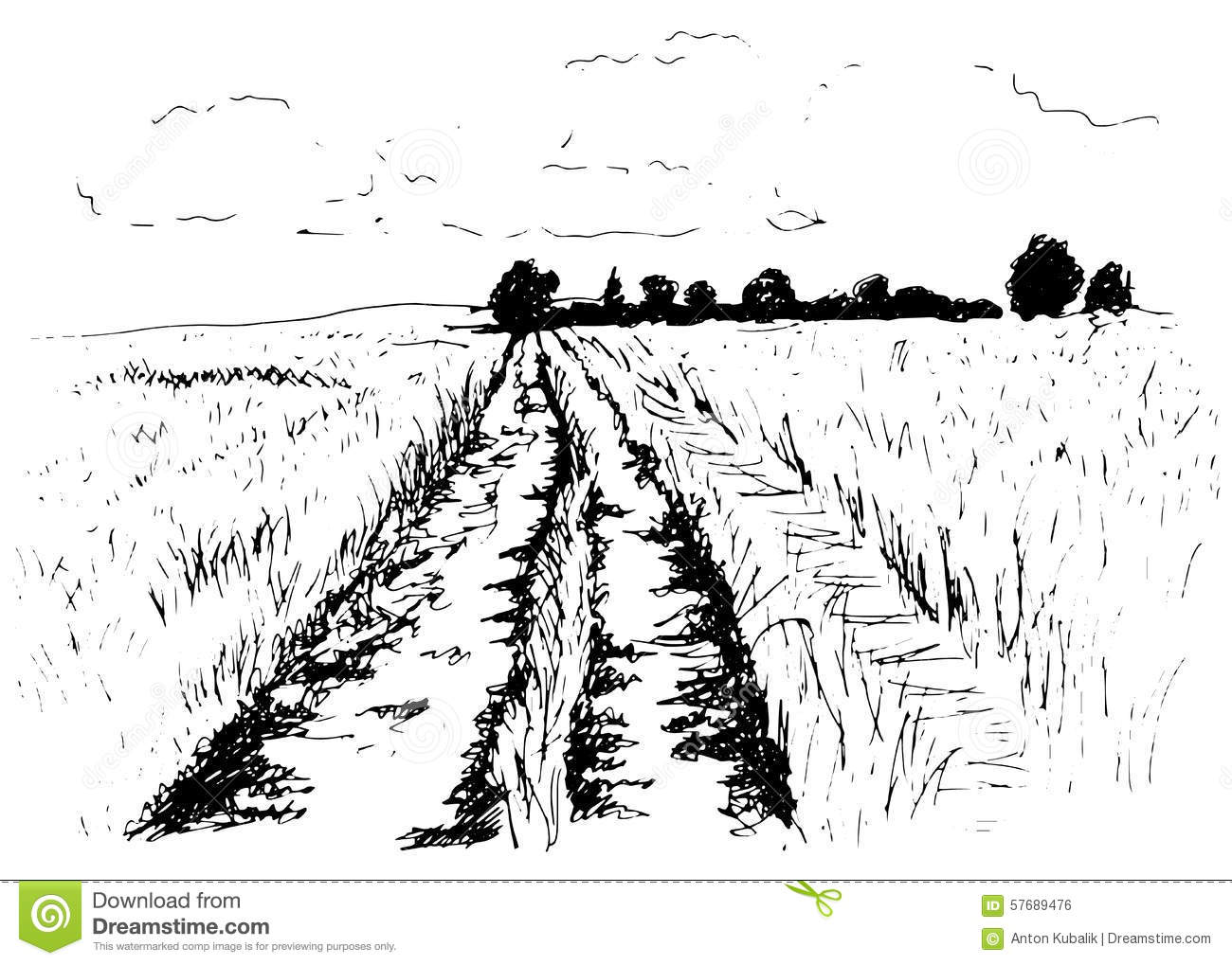 Road clipart gravel road #6