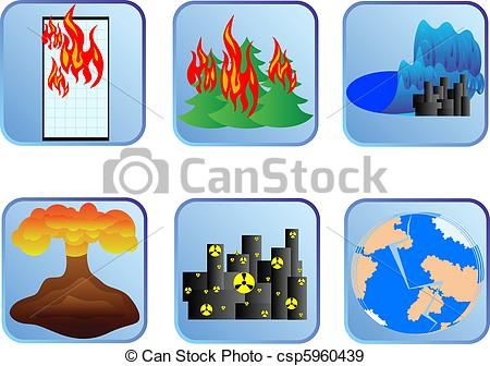 Disaster clipart EPS Clipart Vector Disaster Badges