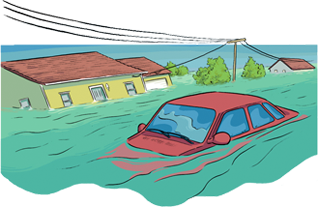 Disaster clipart flash flood And with water gov Car