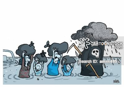 Disaster clipart flash flood Floods of CartoonStock 27 funny