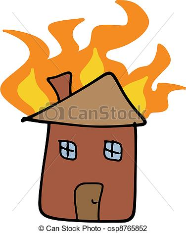 Disaster clipart home fire Illustration Home  fire of