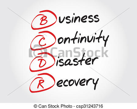 Disaster clipart recovery  of Continuity Business Recovery
