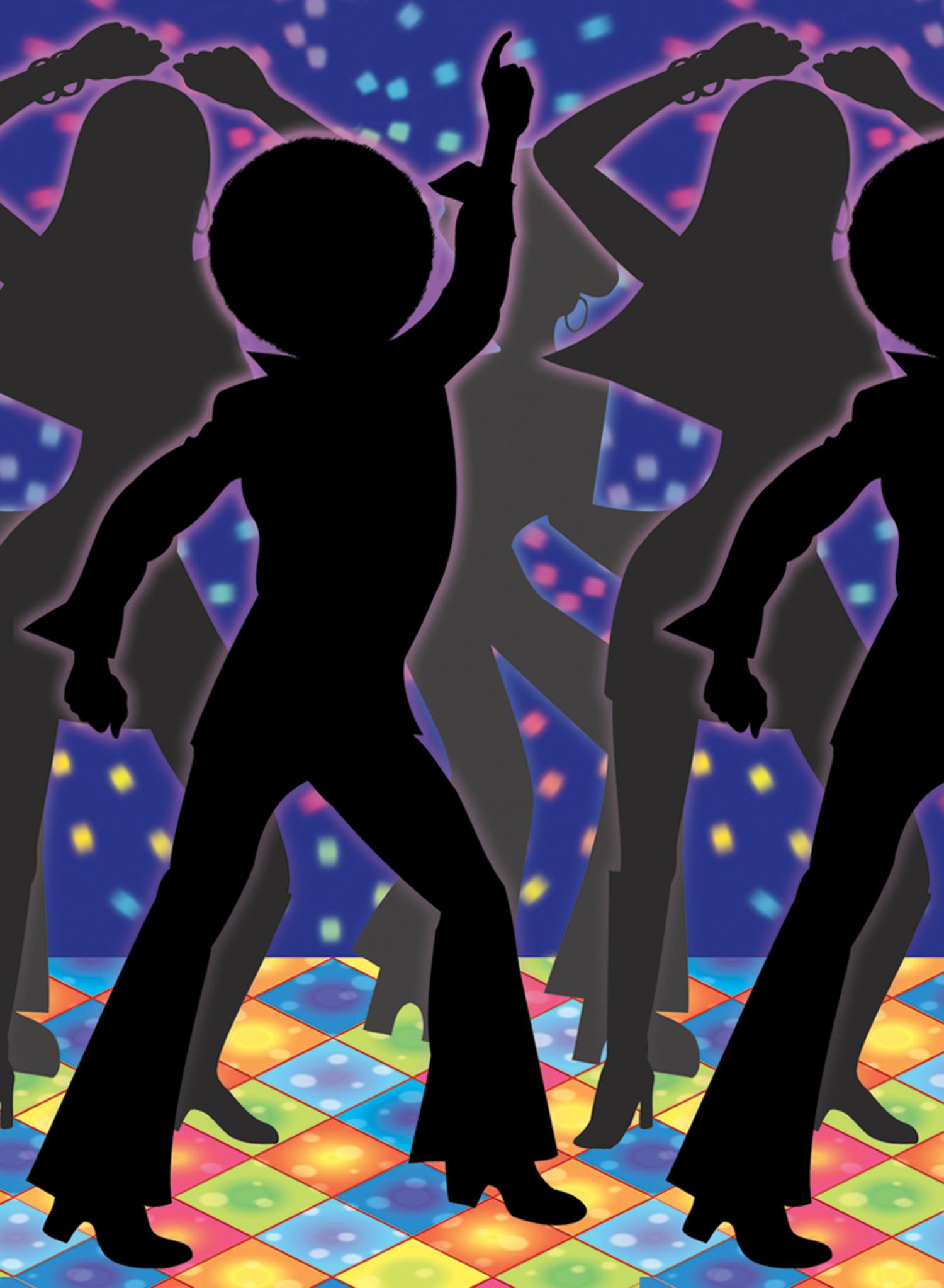 Disco clipart dance floor Afro Dancing Imprimir Gratis Sihlouettes