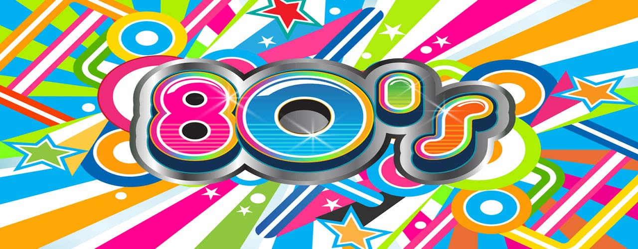 Disco clipart 80's Party Banner with UK Parties