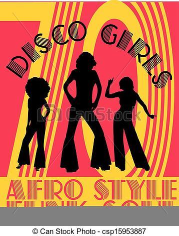 Disco clipart afro Art csp15953887  Vector Vector