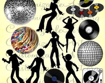 Disco clipart dance ball elegant Art ball Etsy Vinyl Clipart