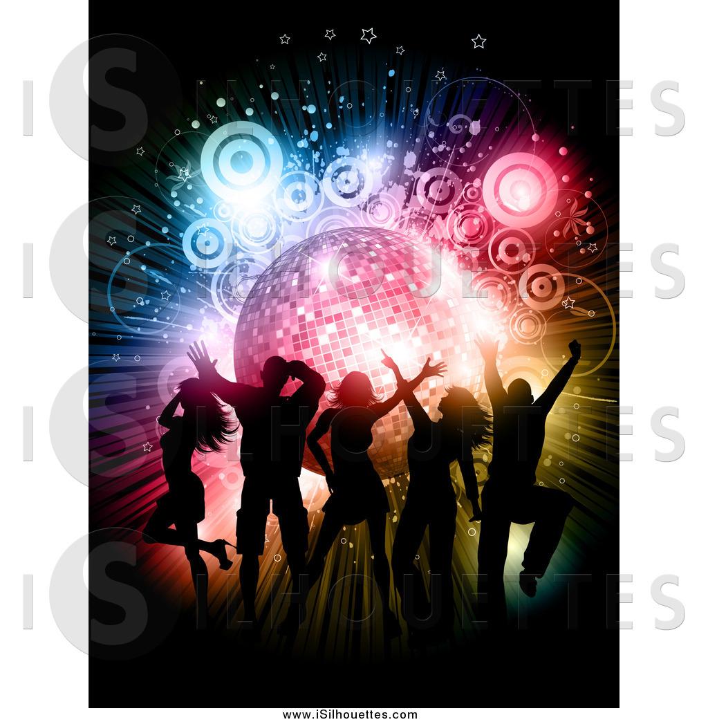 Disco clipart orange Free  Entertainment Silhouette Designs